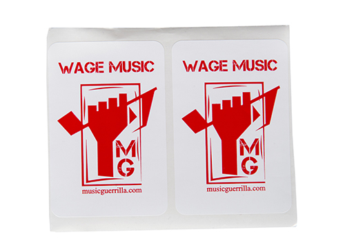 Wage Music Stickers